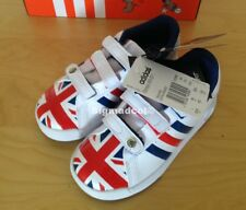Adidas INFANT Trainers Shoes UNION JACK hook & loop fastening NEW UK 8