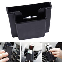 Car Black Plastic Cell Phone Holder Double Layer Storage Box For Iphone Sumsang