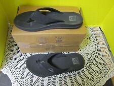 Reef Phantom Mens Cushion Thong Flip Flops Black Size 10 NEW