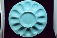 Light blue, Deviled egg plate, Farval, made in Portugal
