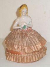 Porcelain Bisque Art Nouvea Deco # 8032 Half Doll Pin Cushion ~ Germany