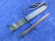 Original Vintage German Us M6 Bayonet And Scabbard Made In W.Germany