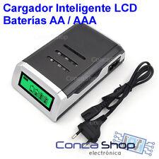 CARGADOR DE BATERIAS RAPIDO INTELIGENTE SMART AA/AAA Ni-MH / Ni-Cd  LCD - ESPAÑA