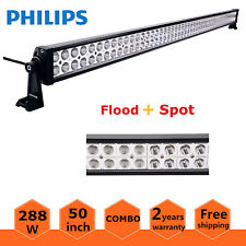 Philips 50inch 288W LED Work Light Bar Combo Offroad 4WD SUV Jeep RZR Ford 48/52