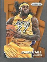 2014-15 Panini Prizm Orange Die Cut #6 Jordan Hill 036/139 Los Angeles Lakers