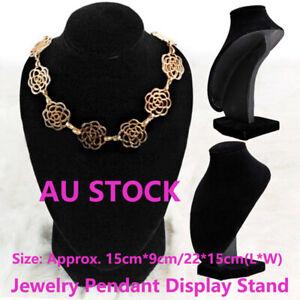 Mannequin Necklace Velvet Jewelry Pendant Display Stand Holder-Show Shelf Rack