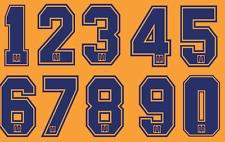 Barcelona Felt Football Shirt Soccer Numbers Heat Print Football Vintage A 1990s