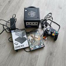 Nintendo GameCube Jet Schwarz Spielekonsole (PAL)  mit Gameboyplayer