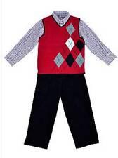 Good Lad Argyle Sweater Vest Pants Set Boy Size 5 NWT