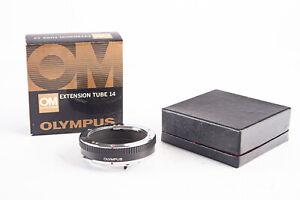 Olympus OM System Macro Close Up Extension Tube 14 in Original Box MINT V13