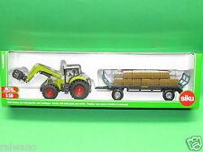 1:50 Siku Farmer 1946 Traktor mit Ballengreifer und Anhänger Blitzversand DHL