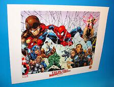 Ultimate Marvel Comics Universe Lithograph by Art Thibert Spider-Man New