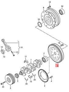 Genuine AUDI VW SKODA SEAT A1 A3 Cabriolet Flywheel 06K105266E