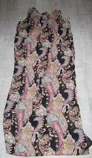 BOOHOO Ladies PAISLEY PATTERN Maxi Dress Size 12 bOHO hIPpY FESTIVAL Beach MULTI
