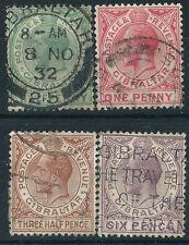 George V (1910-1936) Postage Gibraltar Stamps