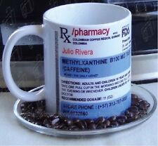 Prescription Coffee Mug Personalized Name Custom Cup Mug 11 oz Ceramic White
