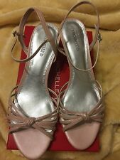NIB Michelle D Leather Heel Shoes Pink Powder Size 10M New In Box