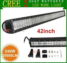"""42"""" 240W CREE LED Light Bar Combo Driving Offroad Jeep Truck 4WD UTE Motor ATV"""