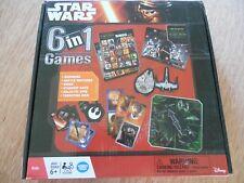 "NEW! Disney Star Wars ""6 in 1 Games"" Dominoes*Bingo*Starship Race*Galactic Spin"