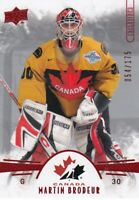 MARTIN BRODEUR NO:92 EXCLUSIVES 054/175 in UPPER DECK TEAM CANADA 2016    a