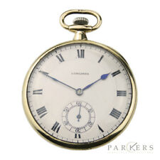 LONGINES VINTAGE 18K GOLD POCKET WATCH DATING CIRCA 1910