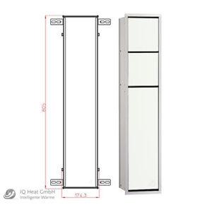 WC Modul emco asis 150 alu / optiwhite Wandcontainer Einbaurahmen