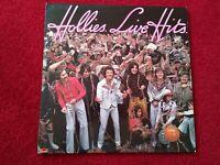 THE HOLLIES LIVE HITS - 12'' Vinyl LP Album 1976