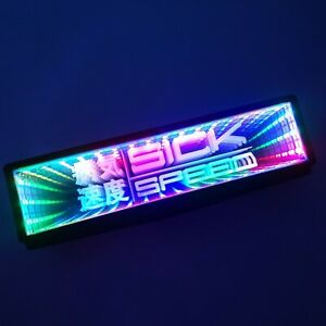 SICKSPEED RGB GALAXY MIRROR LED LIGHT CLIP-ON REAR VIEW WINK REARVIEW P13