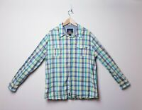 Pepe Jeans London Mens Size XXL Plaid Check Smart Casual Hipster LS Button Shirt