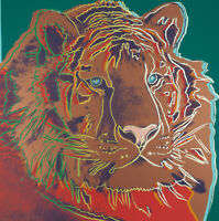 Siberian Tiger (Endangered Species) 1983 by Andy Warhol - Poster Wall Art