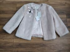 TED BAKER KAATYA THE ORIENT FAUX FUR COAT, PINK/BLUSH size 2/UK10