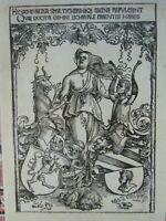 Albrecht Dürer Holzschnitt Wappen der Familien Scheurl und Tucher ca 1512