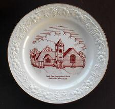 SOUTH ACTON CONGREGATIONAL CHURCH Souvenir Collector's Plate MASSACHUSETTS 1950s