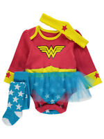 George Official Baby Girl DC Comics Wonder Woman Tutu Costume Bodysuit Set