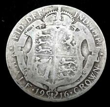 1916 George V Silver Half-Crown Coin - Great Britain