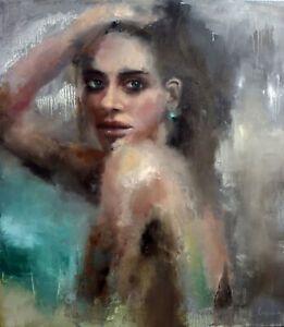 Woman paintings Modern Oil Portrait painting original Female Abstract portrait