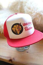 Retro Red Uni-Line Robertshaw Snapback Trucker Cap Trucker Hat - Lion Unicorn