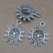 20pc Retro Tibetan Silver Charms Sunflower Pendant Beads Jewellery Making B587Y