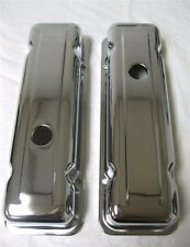 1980-1984 CHEVY 229 V6 90 DEGREE CHROME STEEL VALVE COVERS GM MALIBU MONTE CARLO