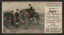 La pubblicità AGFA FOTO principe ereditario Guglielmo Cecilie caccia Döberitz auto cavallo Berlin 1911