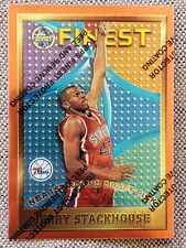 New listing JERRY STACKHOUSE 1995-96 Topps Finest RC ROOKIE Basketball Card #113 NBA 76ers