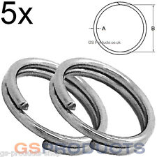 5x 16mm Stainless Steel Split Clevis Key Ring FREE Postage & Packaging!