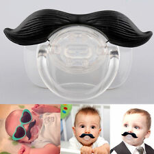 Funny Teeth Mustache Baby Boy Girl Pacifier Orthodontic  Dummy Beard Nipples