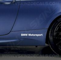 2x BMW Motorsport Logo Skirt Decals Stickers Premium Quality 11 Colours Alpina
