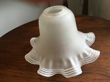 Vintage frosted glass frilled lampshade  ' light shade