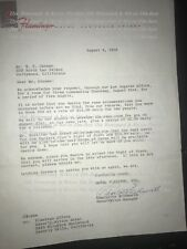 Flamingo Hotel Stationary Letter to W. F. Carmer About Reservations Signed 1958