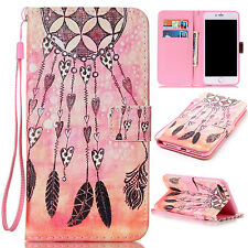 Multi Design Flip Wallet PU Leather Stand Case Cover For iPod Touch 5th 6th Gen