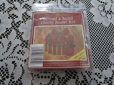 1994 Mill Hill Buttoned & Beaded APPLE BASKET Country Magnet Kit