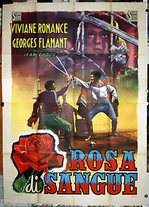 manifesto 4F film ANGELICA - ROSA DI SANGUE Viviane Romance Georges Flamant 1947