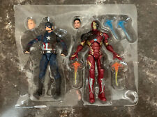 Marvel Legends Captain America Iron Man LOOSE from the Civil War 3-Pack
